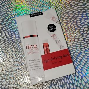 NIB Philosophy Time in a bottle Age Defying duo